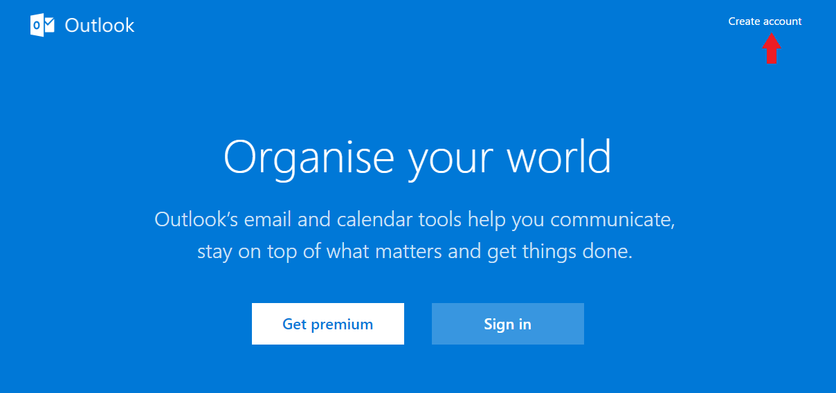 Create Outlook Mail Account