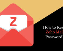 How to Reset Zoho Mail Password?