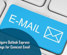 Configure Outlook Settings for Comcast Email