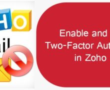 How to Enable and Disable Two-Factor Authentication in Zoho Mail?