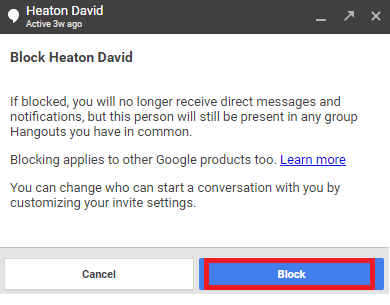 Guide How to Block and Unblock Contacts in Google Hangouts