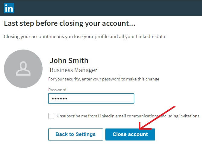 close-LinkedIn-account