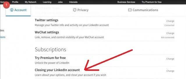 closing-LinkedIn-account