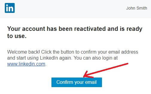 confirm-email-reactivate-LinkedIn-account