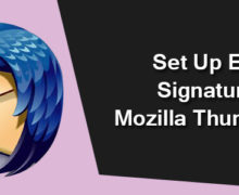 How to Set Up Email Signature in Mozilla Thunderbird?