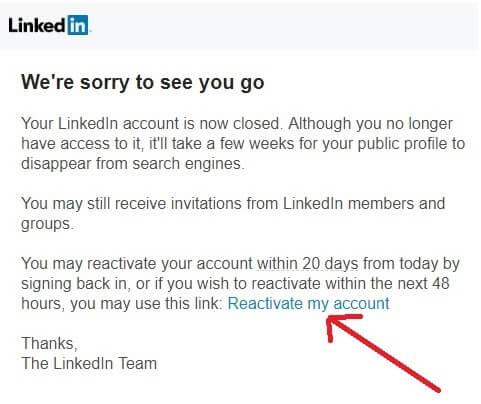 reactivate-LinkedIn-account