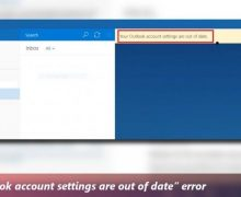 How To Fix Your Account Settings Are Out of Date Outlook Error?
