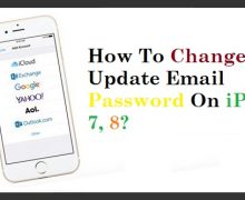How To Change And Update Email Password On iPhone 7, 8?