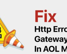 Fix Http Error 504 Gateway Timeout In AOL Mail?
