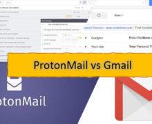 ProtonMail Vs Gmail Comparison